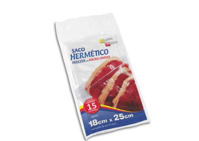 Saco Hermético PE Cozinha Prática 18×25 15 unid COD-5708