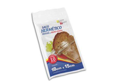 5709 SACO HERMETICO PE COZINHA PRATICA 18X15 10UND