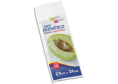 5742 SACO HERMETICO PE COZINHA PRATICA 27X31 8UND